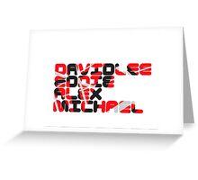 David Lee Eddie Alex Michael Greeting Card