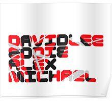 David Lee Eddie Alex Michael Poster