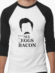 Ron Swanson (Eggs & Bacon) Men's Baseball ¾ T-Shirt
