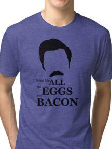 Ron Swanson (Eggs & Bacon) Tri-blend T-Shirt