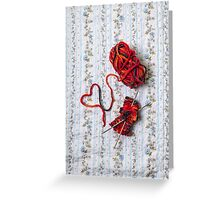 knitted with love Greeting Card