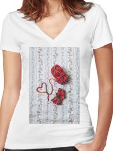 knitted with love Women's Fitted V-Neck T-Shirt