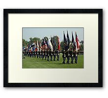US ARMY 3d Infantry Regiment - Review of the US States' Colors Framed Print