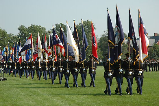 US ARMY 3d Infantry Regiment - Review of the US States' Colors by John Michael
