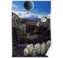 The Bath - surreal fantasy collage original Poster