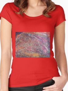 """""""Entanglement No.2"""" original abstract artwork by Laura Tozer Women's Fitted Scoop T-Shirt"""