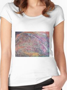 """Entanglement No.2"" original abstract artwork by Laura Tozer Women's Fitted Scoop T-Shirt"