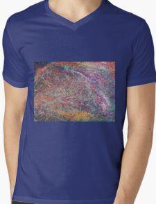 """Entanglement No.2"" original abstract artwork by Laura Tozer Mens V-Neck T-Shirt"