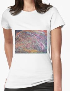 """""""Entanglement No.2"""" original abstract artwork by Laura Tozer Womens Fitted T-Shirt"""