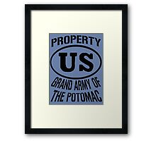 Property Grand Army of The Potomac Framed Print