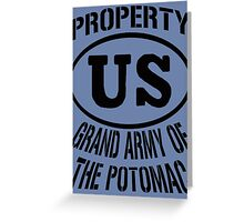 Property Grand Army of The Potomac Greeting Card