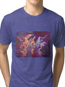 """Turbulence"" original abstract artwork by Laura Tozer Tri-blend T-Shirt"