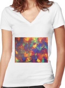 """""""Entropy"""" original abstract artwork by Laura Tozer Women's Fitted V-Neck T-Shirt"""