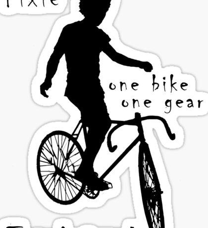 Fixie - one bike one gear - Trackstand (white) Sticker