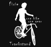 Fixie - one bike one gear - Trackstand (black) by Stefan Trenker