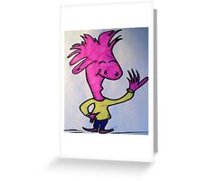 Adored Pink Dude  Greeting Card