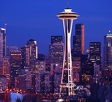 Seattle Cityscape by Mark Bauschke