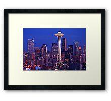 Seattle Cityscape Framed Print