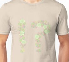 Dark lined green flowers !? Unisex T-Shirt