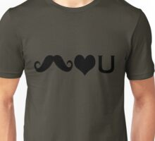 Mustaches Love You Unisex T-Shirt