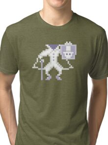 8-bit Hatbox Ghost - Haunted Mansion Tri-blend T-Shirt