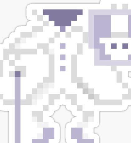 8-bit Hatbox Ghost - Haunted Mansion Sticker