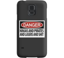 Ninjas and Pirates and Lasers, Oh My! Samsung Galaxy Case/Skin