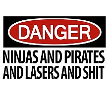Ninjas and Pirates and Lasers, Oh My! Photographic Print