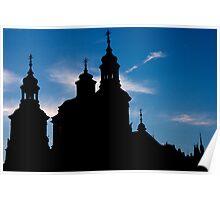 Prague Silhouette Poster