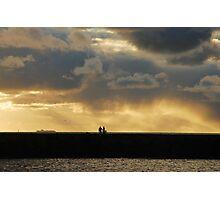 Chatting on the pier at Scheveningen harbour Photographic Print