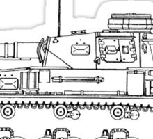 Panzer IV Concept Sketch Sticker