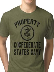 Property Confederate States Navy Tri-blend T-Shirt