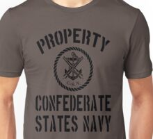 Property Confederate States Navy Unisex T-Shirt