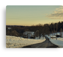 The country in winter Canvas Print
