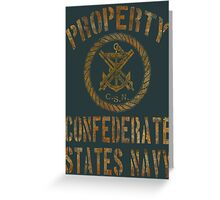 Property Confederate States Navy Light Design Greeting Card