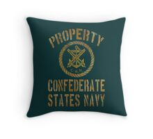 Property Confederate States Navy Light Design Throw Pillow