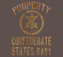 Property Confederate States Navy Light Design T-Shirt