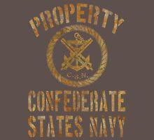 Property Confederate States Navy Light Design Unisex T-Shirt