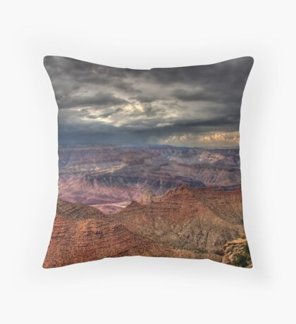 Storm Over the Canyon Throw Pillow