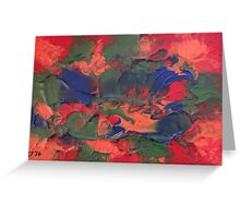 """Orchestral"" original abstract artwork by Laura Tozer Greeting Card"