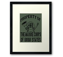 Property Marine Corps of Union States Framed Print