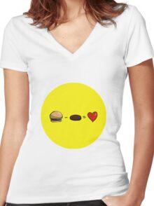 Vegetarianism Women's Fitted V-Neck T-Shirt