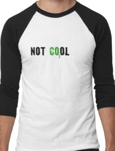 Global warming [not cool] Men's Baseball ¾ T-Shirt