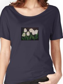 six white tulips Women's Relaxed Fit T-Shirt
