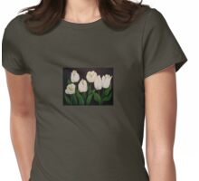 six white tulips Womens Fitted T-Shirt