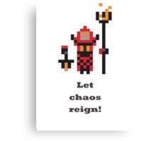 Warlock - Let chaos reign! Canvas Print