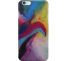 """Azzurro"" original abstract artwork by Laura Tozer iPhone Case/Skin"