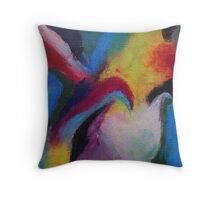 """Azzurro"" original abstract artwork by Laura Tozer Throw Pillow"