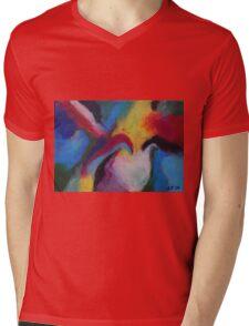 """Azzurro"" original abstract artwork by Laura Tozer Mens V-Neck T-Shirt"