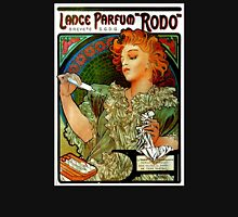 'Lance Parfum' by Alphonse Mucha (Reproduction) Womens Fitted T-Shirt